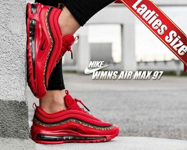 レディース靴, スニーカー !! 97NIKE WMNS AIR MAX 97 ANIMAL PRINT university redblack-print bv6113-600