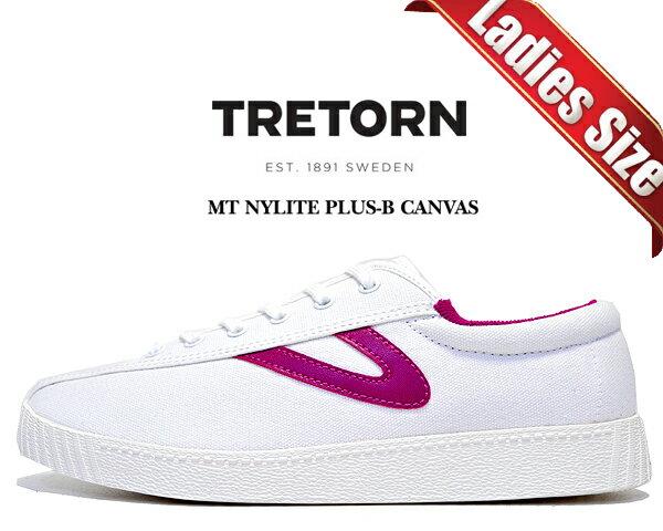 レディース靴, スニーカー !! !! TRETORN MT NYLITE PLUS-B CANVAS VINTAGE WHITEVINTAGE WHITEVERY BERRY