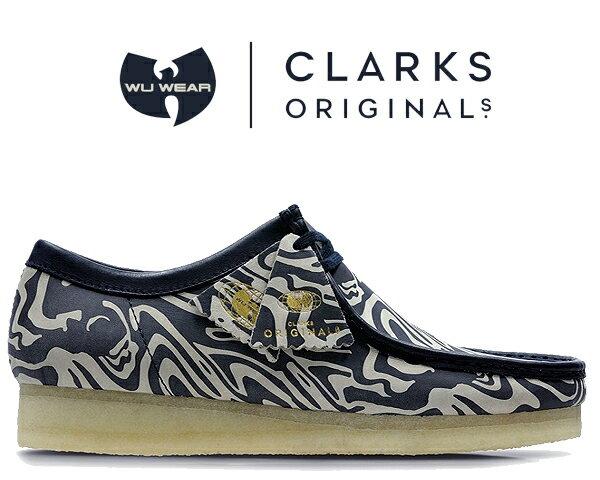メンズ靴, スニーカー !! !! CLARKS WALLABEE LOW Wu Tang Clan NAVY MULTI 47057 Ice Cream Glaciers of Ice