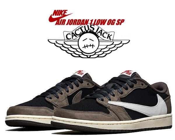 メンズ靴, スニーカー !! !! 1 NIKE AIR JORDAN 1 LOW OG SP TRAVIS SCOTT blacksail-dark mocha cq4277-001 AJ1