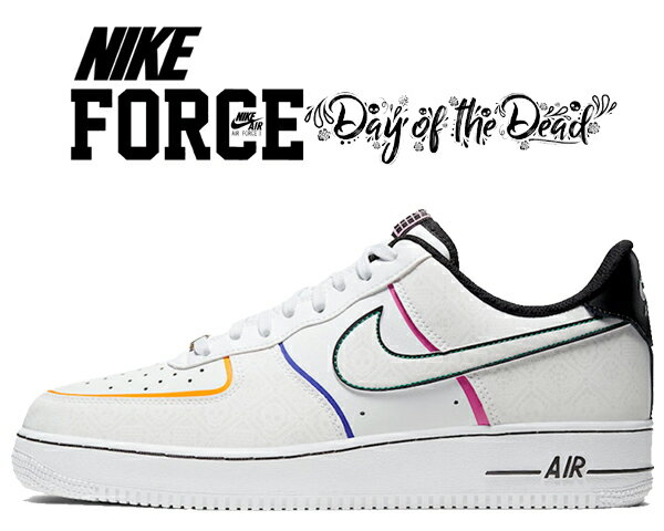 メンズ靴, スニーカー !! !! 1 07 NIKE AIR FORCE 1 07 PRM Day of the Dead whitewhite-black ct1138-100 AF1