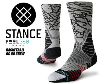 お得な割引クーポン発行中!!【あす楽 対応!!】【スタンスソックス】STANCE OG 88 CREW BLACK m559ci9og8-blk 靴下 黒 メンズ stancehoop BASKETBALL バスケットボール ハイソックス FEEL360