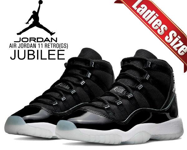 レディース靴, スニーカー !! !! 11 NIKE AIR JORDAN 11 RETRO(GS) JUBILEE blackmulti-color-multi-color 378038-011 AJ11 25