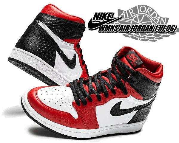 レディース靴, スニーカー !! !! 1 OGNIKE WMNS AIR JORDAN 1 HI OG SATIN SNAKE gym redblack-white cd0461-601 AJ1