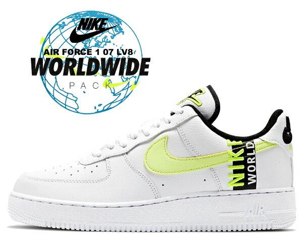 メンズ靴, スニーカー !! !! 1 07 NIKE AIR FORCE 1 07 LV8 WORLD WIDE PACK whitebarey volt-volt-black ck6924-101 AF1 LOW Worldwide