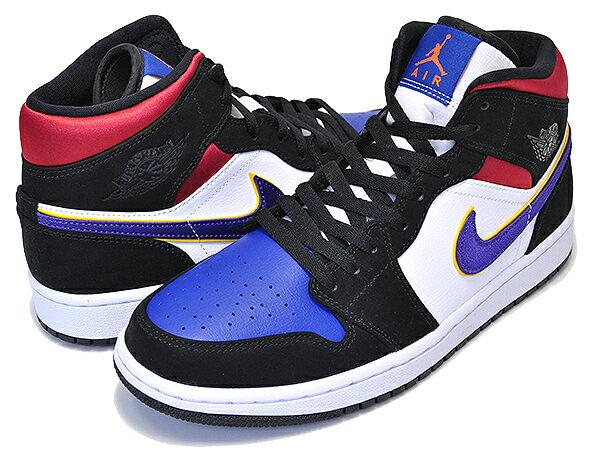 メンズ靴, スニーカー !! !! 1 SENIKE AIR JORDAN 1 MID SE 1991 NBA FINALS blackfield purple-white 852542-005 AJ1 NBA Lakers Top 3