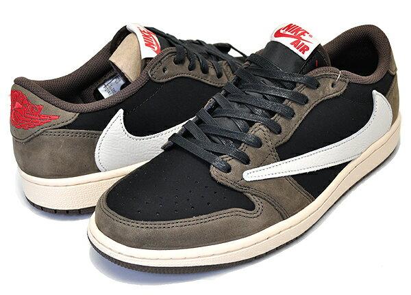 メンズ靴, スニーカー !! !! 1 NIKE AIR JORDAN 1 LOW OG SP TRAVIS SCOTT blacksail-dark mocha cq4277-001 AJ1 AJ1