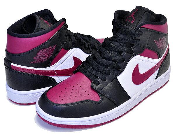 メンズ靴, スニーカー !! !! 1 NIKE AIR JORDAN 1 MID blacknoble red-white 554724-066 AJ1 BRED TOE