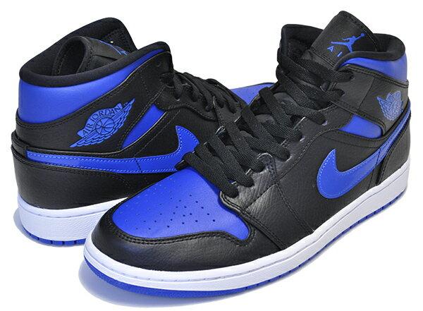 メンズ靴, スニーカー !! !! 1 NIKE AIR JORDAN 1 MID blackhyper royal-white 554724-068 AJ1
