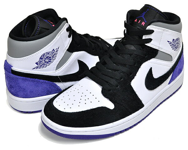 メンズ靴, スニーカー !! !! 1 SENIKE AIR JORDAN 1 MID SE whitecourt purple-black 852542-105 AJ1