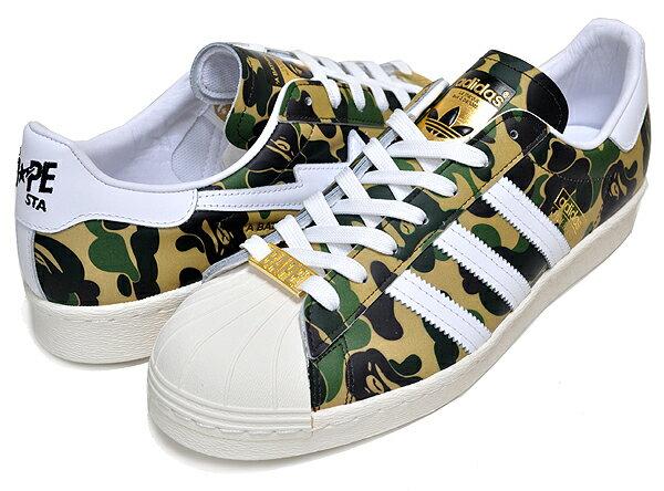 メンズ靴, スニーカー !! !! 80s adidas SUPERSTAR 80s BAPE OWHITEFTWWHTGOLDMT gz8981 ABC CAMO