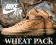 """【ナイキ エア フォース1】NIKE AIR FORCE 1 HI '07 LV8 """"WHEAT PACK"""" flax/flax-o.grn【ウィート】"""