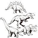 ウォールステッカー 恐竜 MU3 日本製 ダイナソー ティラノサウルス シール 壁紙 風呂 ドア トイレ 北欧 インスタ