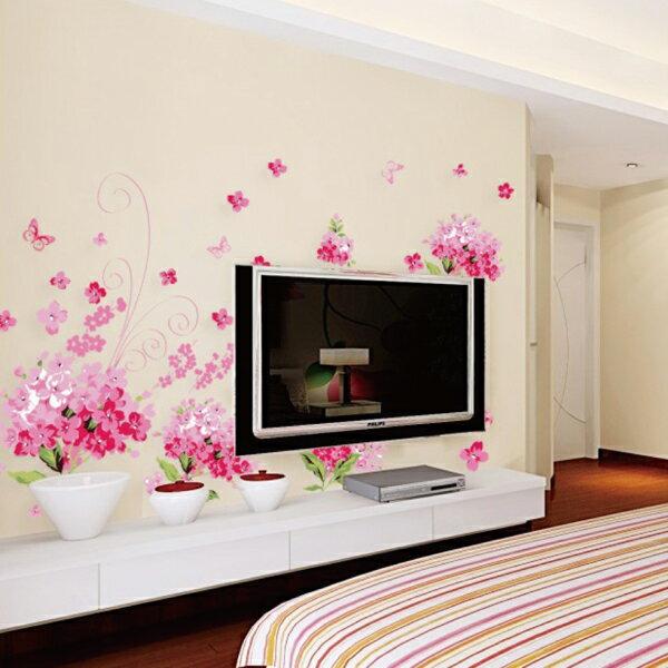 ウォールステッカー 花 ピンク フラワー ガーデニング トイレ シール 壁紙 飾り 窓 リフォーム ナチュラル DIY