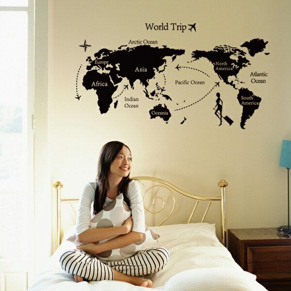 ウォールステッカー 世界地図 モノトーン マップ ブラック モノクロ 黒 ワールド 北欧 おしゃれ トイレ シール インテリア 壁紙 飾り 窓 英字 風景 リフォーム ドア インスタ 映え