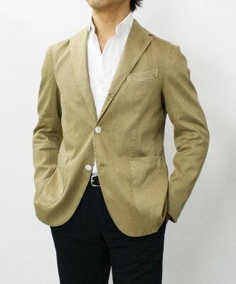 春夏アウトレット BOGLIOLI COAT ( コート モデル ) / リネンコットン ストレッチ 製品洗い 3釦段返り2パッチ シングルジャケット【ベージュ】【SALE価格】【送料無料】