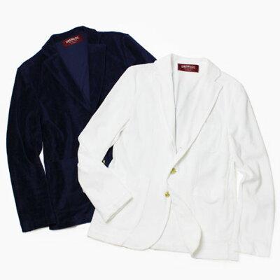 S/S 新作 DREW & CO. / ドリュー アンド コー / コットン パイル ジャケット【ネイビー/ホワイト】【送料無料】