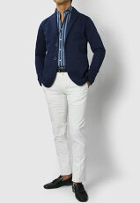 【国内正規品】S/S新作SONRISA(ソンリーサ)/コットンデニムシャツジャケット【インディゴ】【送料無料】