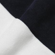 【国内正規品】S/S新作GRANSASSO(グランサッソ)/コットンパイルニットワンポイント刺繍Tシャツ【ホワイト/ネイビー】【送料無料】