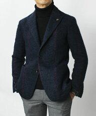 【国内正規品】F/W新作G.Pasini(ガブリエレパジーニ)/ウールストライプジャケット【ネイビー】【送料無料】