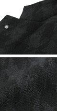【国内正規品】F/W新作LARDINI(ラルディーニ)/EXCLUSIVE/ウールニットBIGハウンドトゥース柄3釦段返りシングルチェスターコート【チャコール】【送料無料】