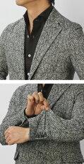 【国内正規品】F/W新作CIRCOLO1901(チルコロ1901)/カシミヤタッチコットンヘリンボーン柄ジャージージャケット【グレー】【送料無料】
