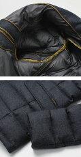 【国内正規品】F/W新作MooRER(ムーレー)/ZAYN-NO/メランジウールダウンジャケット【ネイビー】【送料無料】