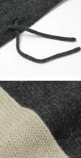 F/W新作robertocollina(ロベルトコリーナ)/ウールキャメルニットパーカー【ベージュ/チャコール】【送料無料】