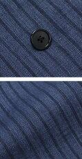 【国内正規品】S/S新作LARDINI(ラルディーニ)/EASY/インディゴ/リネンコットンストライプ6Bダブルジャケット【インディゴ】【送料無料】