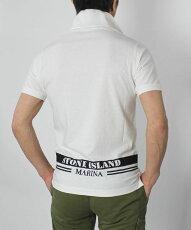 【国内正規品】S/S新作STONEISLAND(ストーンアイランド)/コットン半袖ポロシャツ【ホワイト】【送料無料】