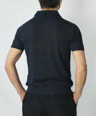 S/S新作JEORDIE'S(ジョルディーズ)/リネンドット柄半袖ポロシャツ【ネイビー】【送料無料】