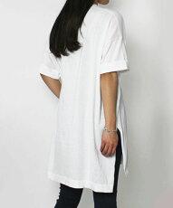 【国内正規品】【WOMEN】S/S新作ADAWAS(アダワス)/コットンBIGTシャツ【ホワイト/ブラック】【送料無料】