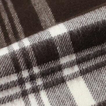 【国内正規品】F/W 新作 JOHNSTONS ( ジョンストンズ ) / チェック柄 カシミヤ 大判ストール【AU2961.ブラウン】【Brown & White Check】【日本限定色】【送料無料】
