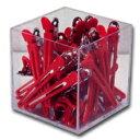 ◆土日祝も営業★ カールクリップ LL (赤) 30本セット (ダッカール) ☆{ サロン専売品 セール ☆☆
