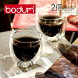 Bodum ボダム パヴィーナ ダブルウォールグラス 2個セット 80ml Pavina 4557-10US Double Wall Thermo Espresso set of 2 クリア 北欧