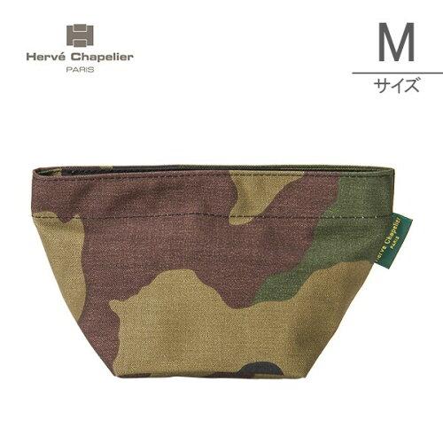 Herve Chapelier エルベシャプリエ Medium Pouch ミディアムポーチ camouflage カモフラージュ 927...