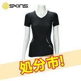 【クリアランスセール】 SKINS スキンズ A400 Womens Top Short Sleeve Vneck ウィメンズ Vネック B41021004 送料無料