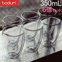 [全品送料無料] ボダム BODUM グラス パヴィーナ ダブルウォールグラス 350mL 6個セット 耐熱 保温 保冷 二重構造 4559-10-12US Pavina タンブラー ビ