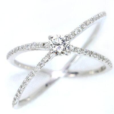 鑑別書付HVS2GOODエンゲージタイプダイヤモンド0.278カラットPT900リング指が美しく見えるデザイン/白・透明(ホワイト)/アウトレット・新品/届10/ラックジュエルluckjewel/