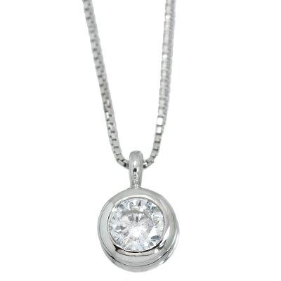 大粒ダイヤモンド(ダイアモンド)0.428カラットネックレスPT900/PT850胸元に輝く存在感ある一粒/白・透明(ホワイト)/アウトレット・新品/届10/ラックジュエルluckjewel/