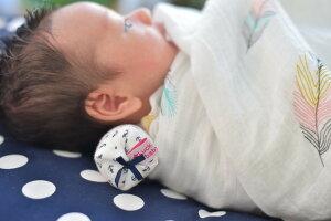 ベビーラックピロー(Lサイズ) 赤ちゃん用首枕 ネックピロー ラックベイビー らっくべいびー Wガーゼ 赤ちゃん枕 ベビーピロー