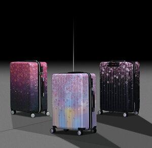 スーツケースキャリーバッグキャリーケースWAOWAO桜柄旅行用品旅行カバン軽量Mサイズ中型ABS+PCハードケースファスナータイプ6831シリーズ
