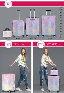 スーツケースキャリーバッグキャリーケースWAOWAO桜柄旅行用品旅行カバン軽量Sサイズ小型ABS+PCハードケースファスナータイプ6831シリーズ
