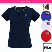 半袖ゲームシャツ/レディース(VL1615)《フィラ テニス・バドミントン ウェア(レディース)》