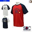 アーチロゴ ラグランTシャツ/メンズ(STC-AGM5053)《セントクリストファー テニス・バドミントン ウェア(メンズ/ユニ)》
