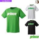 Tシャツ/ユニセックス(WU8015)《プリンス テニス・バドミントン ウェア(メンズ/ユニ)》テニスウェア男性用