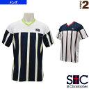 バーチカルストライプ ゲームTシャツ/メンズ(STC-AHM1083)《セントクリストファー テニス・バドミントン ウェア(メンズ/ユニ)》