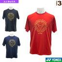 ヨネックス全英選手権2019大会記念Tシャツ/ユニセックス(YOB19110)《ヨネックス テニス・バドミントン ウェア(メンズ/ユニ)》