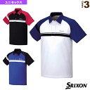 TEAM LINE/ポロシャツ/ユニセックス(SDP-1550)《スリクソン テニス・バドミントン ウェア(メンズ/ユニ)》テニスウェア男性用