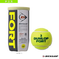 FORT 2球入(フォート)『缶単位(1缶/2球)』(DFDYL2TIN)《ダンロップ テニス ボール》